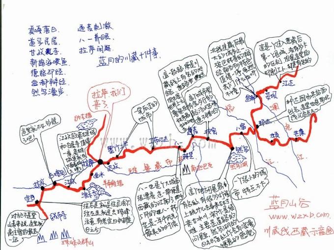 蓝月玩转西部手绘地图 蓝月pk虫虫> - 马蜂窝