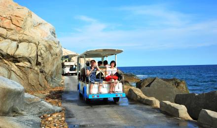 三亚蜈支洲岛环岛电瓶车(带你去看海)