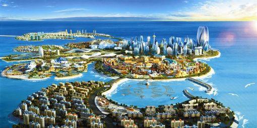 塔 世界最大·音乐喷泉 高空轻轨纵览棕榈岛 帆船酒店 世界最大购物中