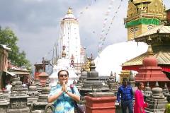 南亚泥泊尔佛教之行...世界遗产苏瓦扬布古塔(俗称猴庙)随拍
