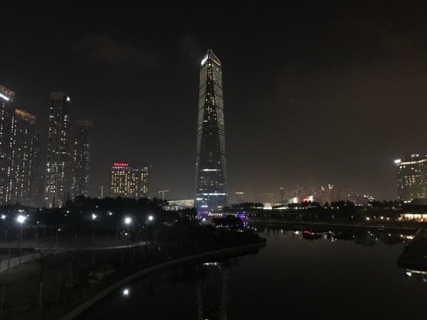 韩国 游记      哇.松岛国际城. 太夸张了,完全一副未来都市的样子!
