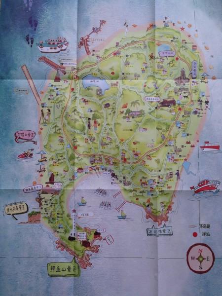 涠洲岛 游记  涠洲岛手绘地图(如果看不太清的话可以在下面留言,我