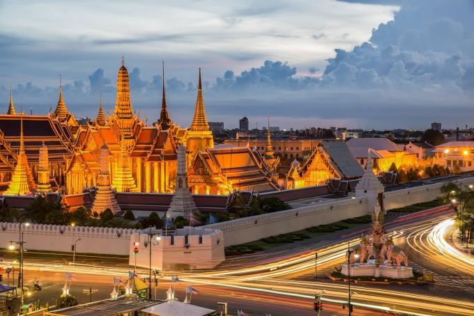 曼谷大皇宫夜景
