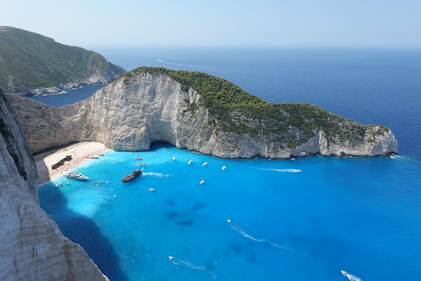 扎金索斯(2)-波查利山,xigia海滩,Makris海滩,沉船湾,蓝洞,海龟岛