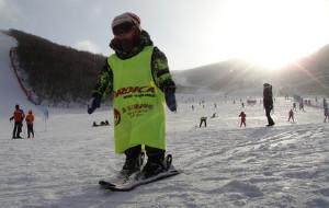 【崇礼图片】崇礼多乐美地雪场最小的滑雪者——子航(2岁5个月)