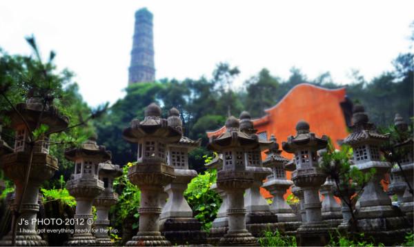 车费 )   天台山国清寺里面好多这样的小经柱   进入国清寺的石桥   浙