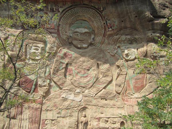 狮兽像,很有些古埃及壁画的风格.   从洛川回到武山后坐下午4点多图片