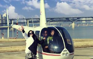 直升机俯瞰首尔,首尔五天四夜游,美食美景购...