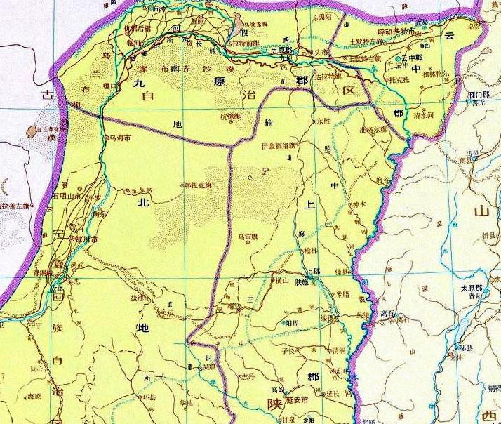 神木县电子地图