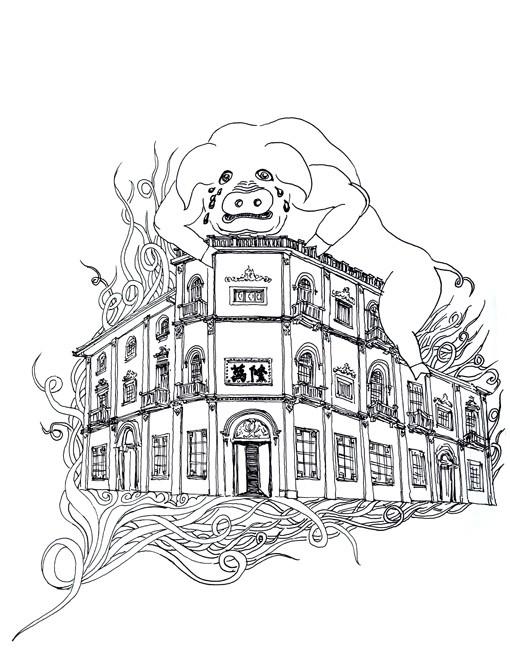 杭州旅游简笔画