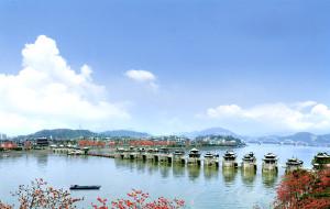 【广东图片】潮州广济桥-十八梭船锁画桥