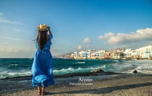 【圣托里尼图片】蓝之极致——法意希行摄之希腊爱琴海篇(圣托里尼、米克诺斯、雅典和自拍婚纱)