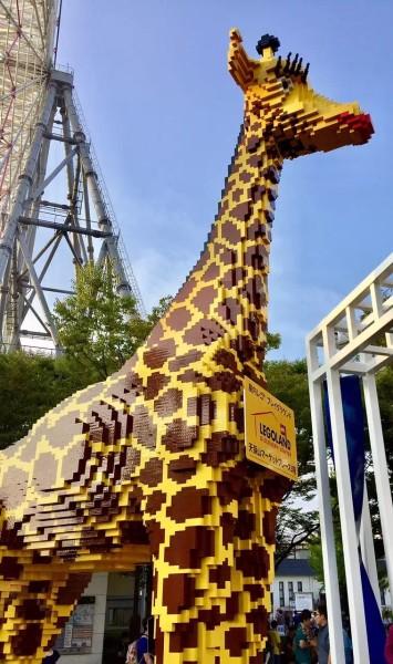 我猜乐高搭建的长颈鹿已经成为这里的地标