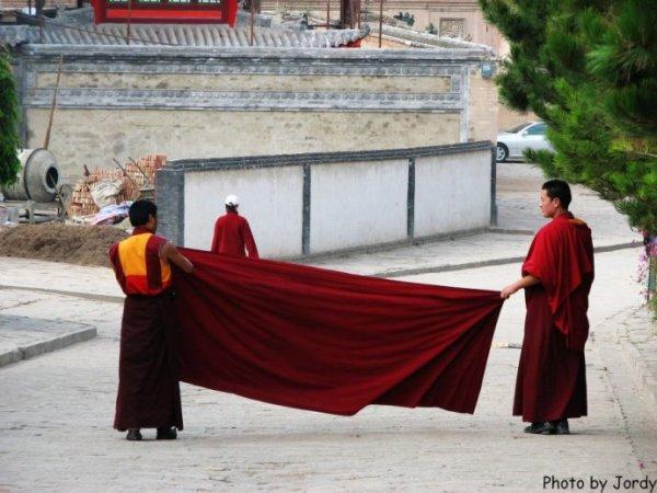 塔尔寺年轻的喇嘛
